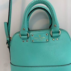 small teal kate spade purse
